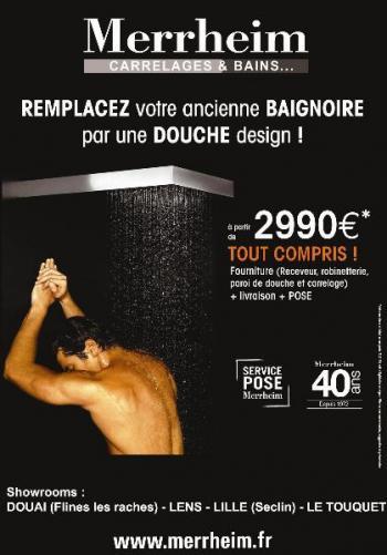 Communication à la rentrée sur notre nouveau concept : Remplacez votre baignoire par une douche design