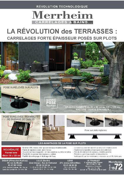 La solution terrasse : Carrelages forte épaisseur posés sur plots