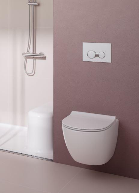 WC suspendu installé dans une salle de bains du Nord-Pas-de-Calais, Picardie