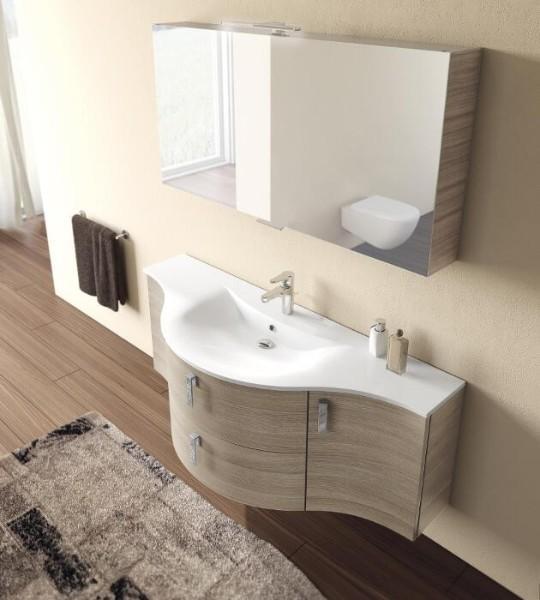 Meuble salle de bains arrondi
