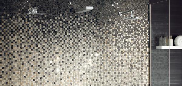Carrelage Mosaïque dégradé noir et blanc