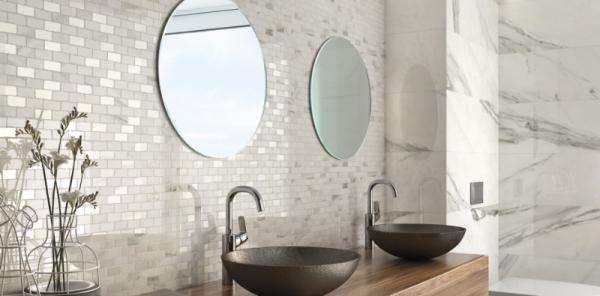 Carrelage mural tendance en mosaïques pour votre  salle de bains