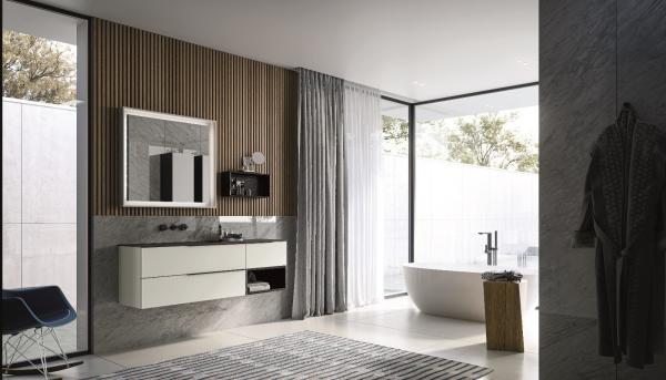 Meuble de salle de bains disponible en très petit format (profondeur de 40cm)