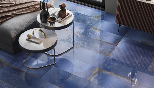 Carrelage sol design brillant