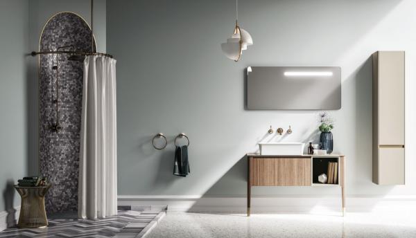Meuble de salle de bains style rétro