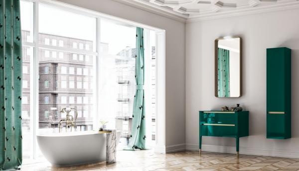 Meuble de salle de bains - couleur verte