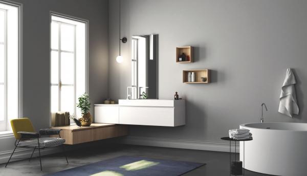 Meuble de salle de bains suspendu - tendance