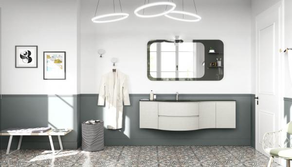 Meuble de salle de bains arrondi