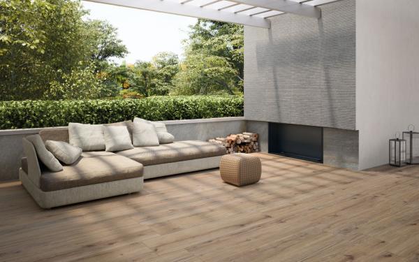Carrelage terrasse imitation parquet