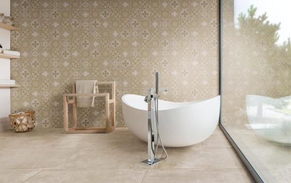 Baignoire îlot dans une salle de bains du Nord-Pas-de-Calais