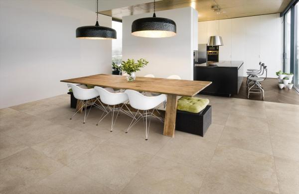 Carrelage sol imitation pierre en grès cérame