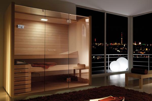 Sauna design en bois