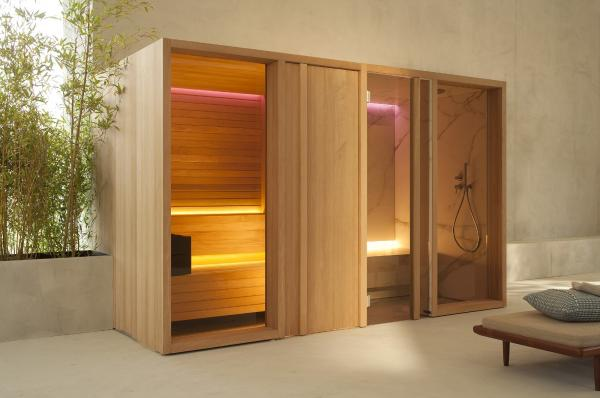 Combiné hammam sauna