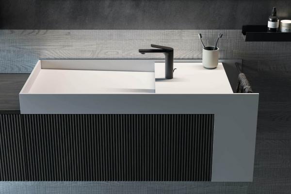 Meuble de salle de bains avec lavabo contemporain