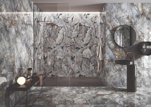 Revêtement carrelage imitation marbre