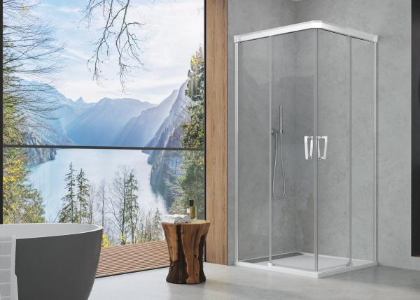 Paroi de douche avec double porte coulissante