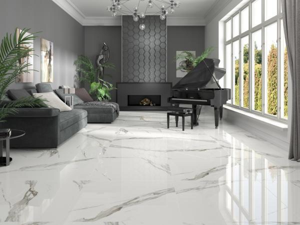 Carrelage sol effet marbre