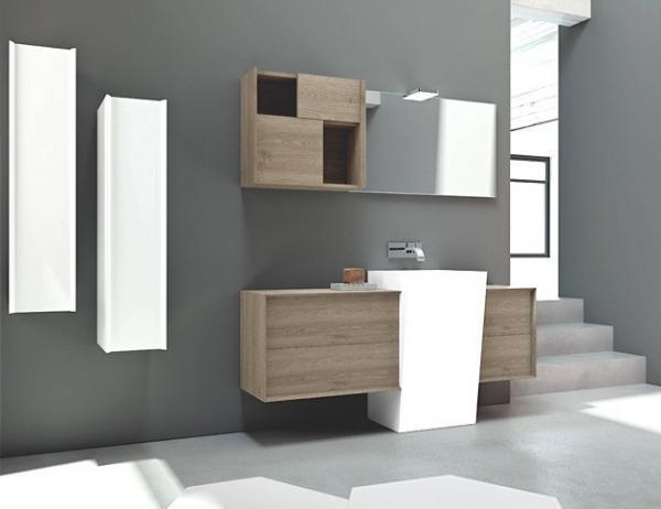 Meubles salle de bain comptemporain
