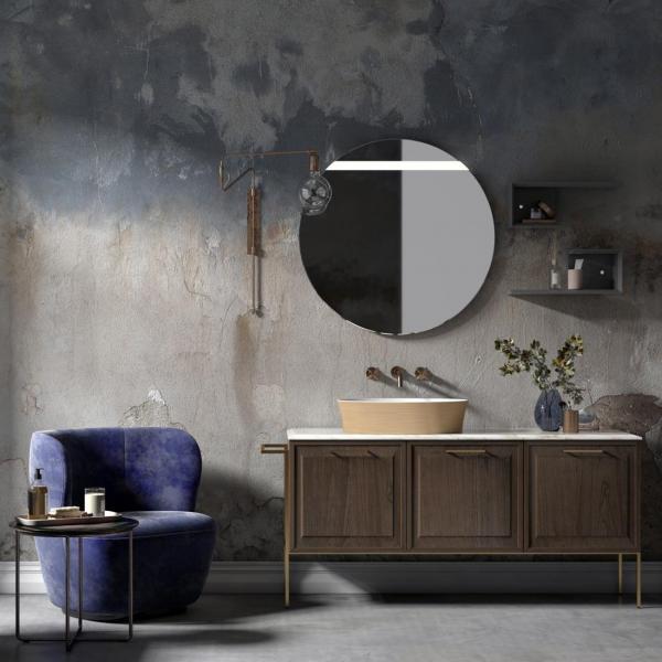 Meuble de salle de bains avec dessus marbre