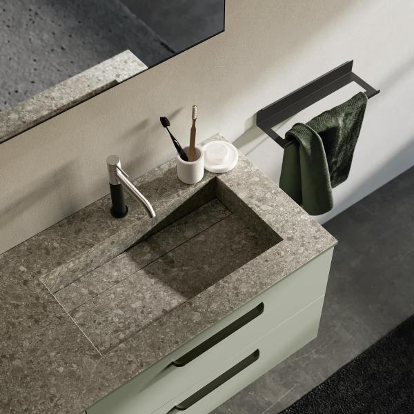 Plan vasque imitation pierre