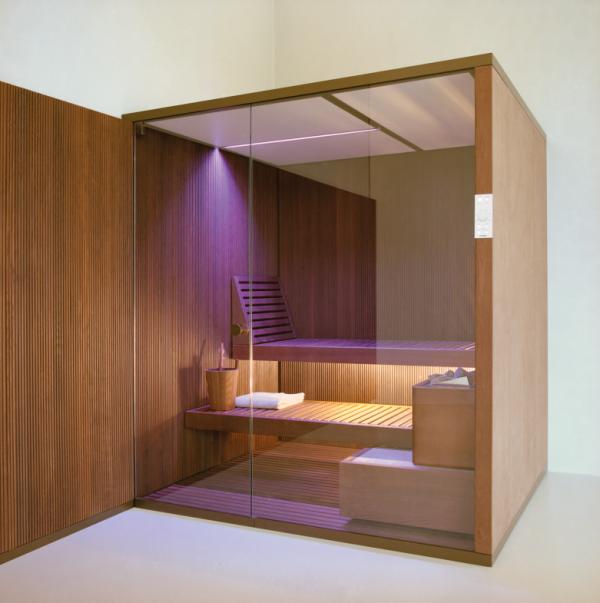 Sauna équipé du système de chromothérapie