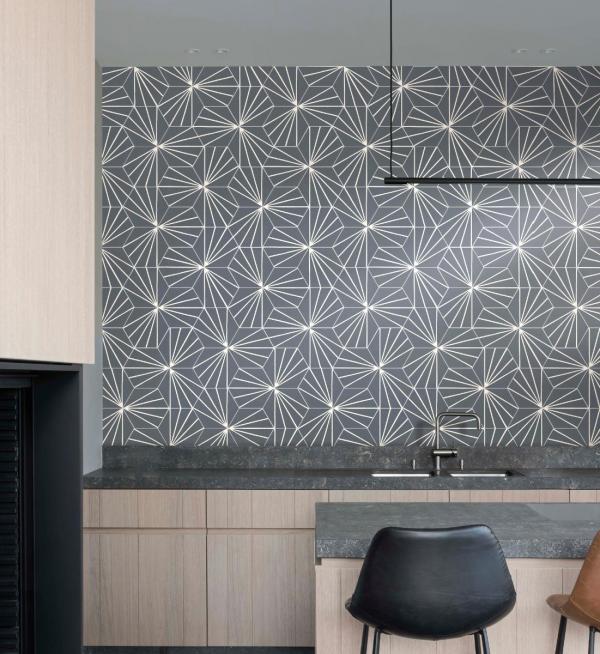 Carrelage mural à motif - Crédence de cuisine