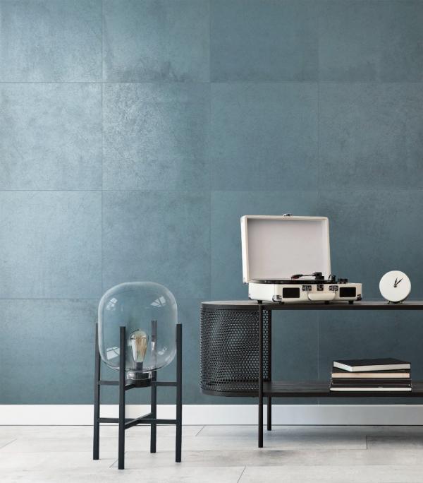 Carrelage mural tendance bleu