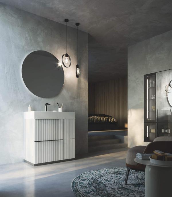 Aménagement salle de bains contemporain