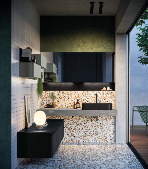 Meuble de salle de bains idéal pour petit espace