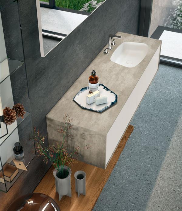 Meuble de salle de bains contemporain