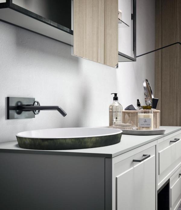 Robinetterie vasque noire
