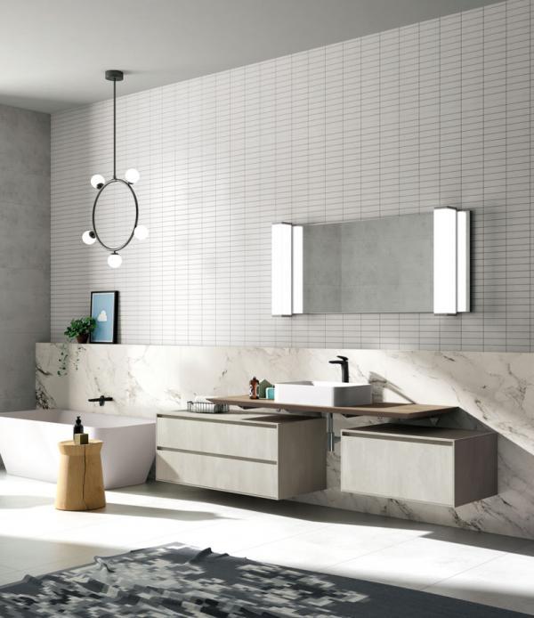 Meuble de salle de bains suspendu design