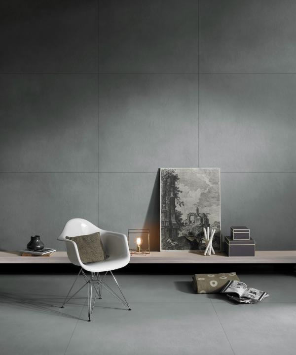 Carrelage grand format sol et mur