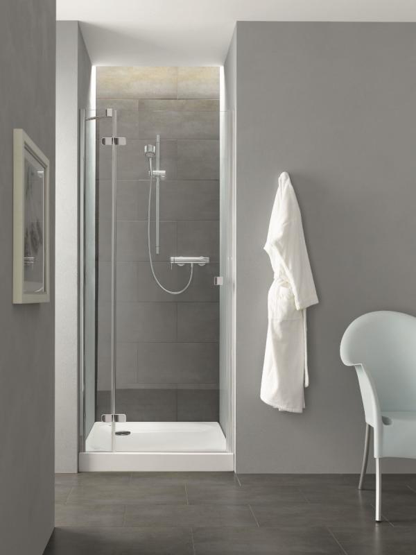 Douche avec receveur surélevé
