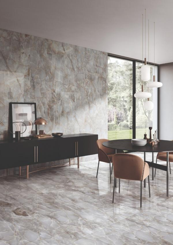 Carrelage sol & mur effet marbre