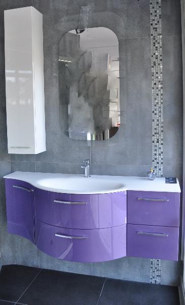 Meuble salle de bain violet lille douai lens le touquet - Meuble salle de bain violet ...