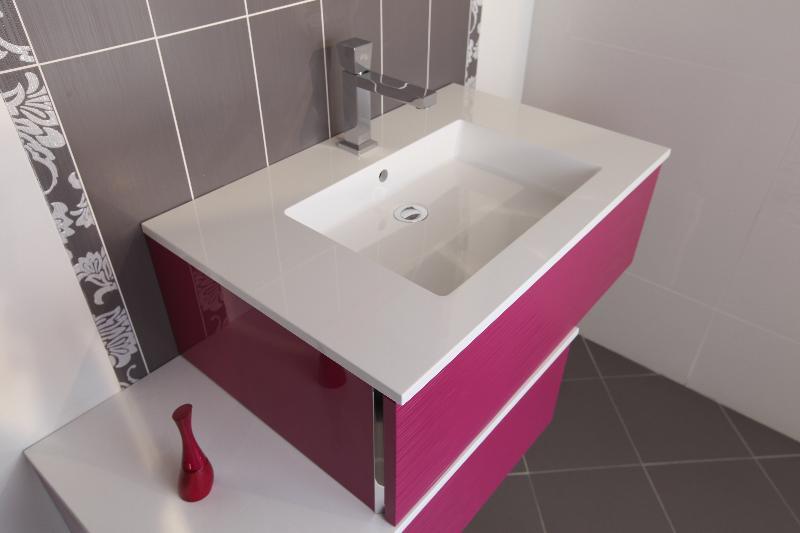 meuble rose vasque rectangulaire lille douai lens le. Black Bedroom Furniture Sets. Home Design Ideas