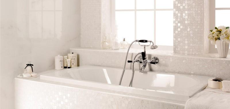 Carrelage mosa que salle de bain lille douai lens le for Mosaique argente salle de bain