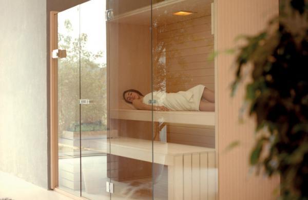 Sauna vitré