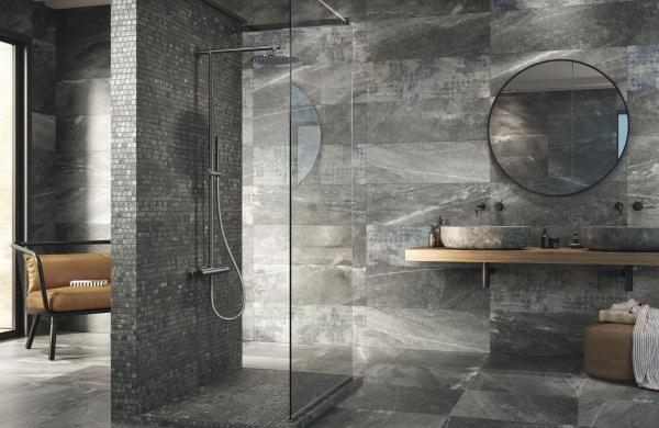 Douche ouverte sans porte