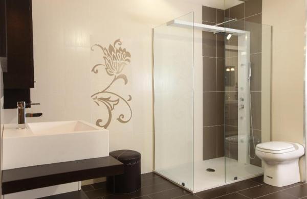 Colonne de douche design blanche