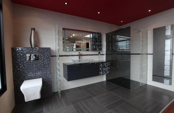 Salle de bain harmonie de gris