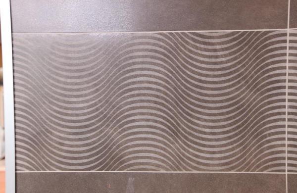 Carrelage décor gris