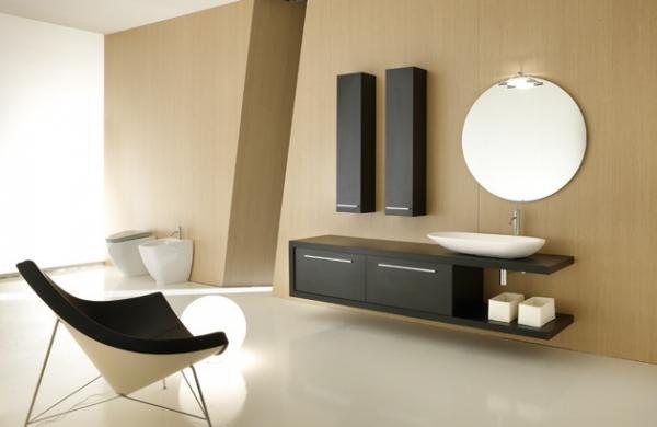 Meuble salle de bains effet bois