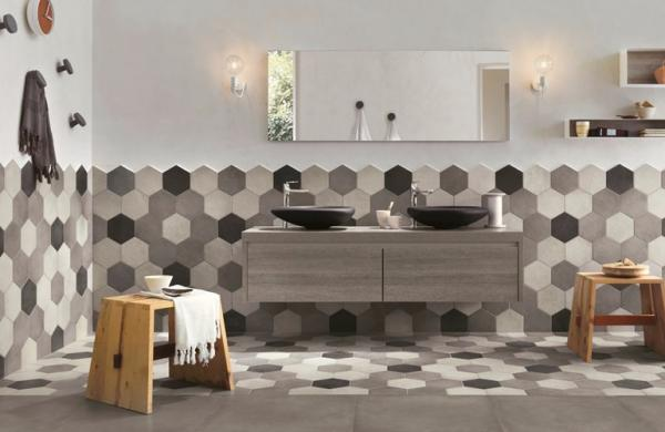 Carrelage Hexagonale