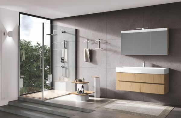 Meuble de salle de bains bois