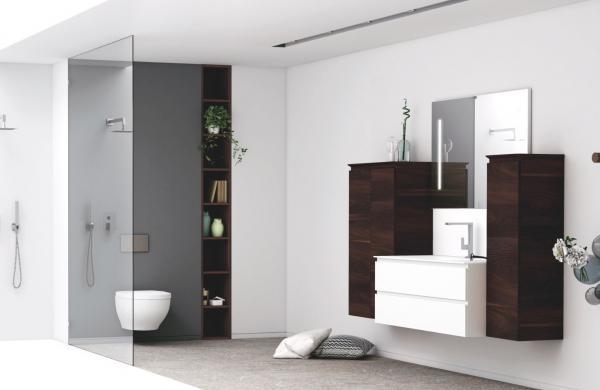 Meuble de salle de bains sans poignée