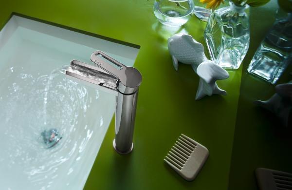 Robinetterie Vasque - effet cascade