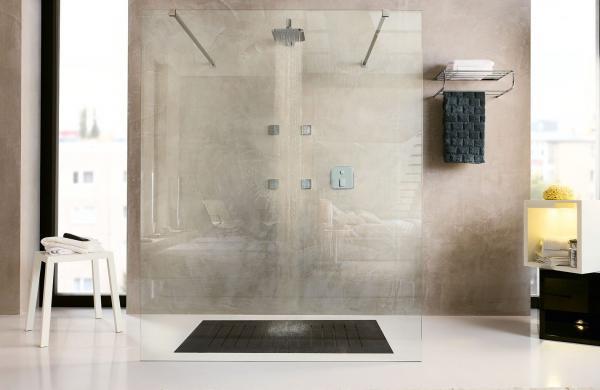 Douche sans porte