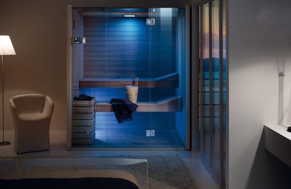 Sauna avec chromothérapie